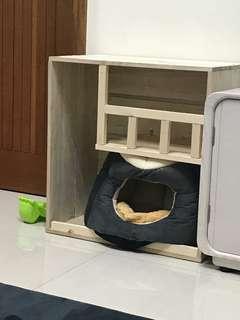 木質手工貓屋