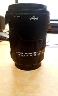 SIGMA DC 18-250mm 1:3.5-6.3 HSM for Canon DSLR