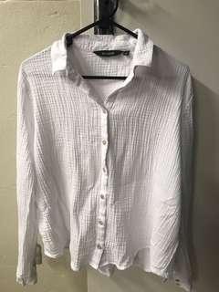 Glasson's women's linen button-up