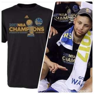 🚚 NBA 勇士隊T恤 2017年NBA冠軍球員實著版 美國帶回 值得收藏