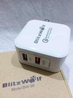 🚚 BLITZWOLF  QUALCOMM QUICK CHARGER 3,0