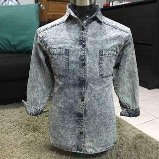 Acod wash jeans shirt unbrand