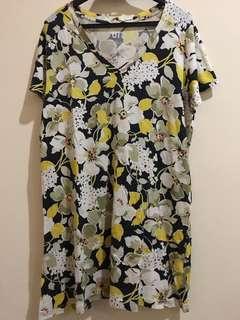 Blouse dress floral uniqlo