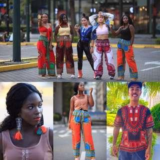 Dashiki, batik, and summer items