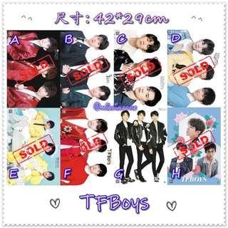[特價] TFBoys - A3壓紋海報 ( 散賣 )