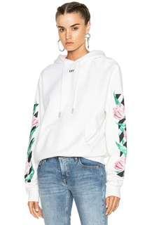 Off-White Tulip print diagonal hoodie