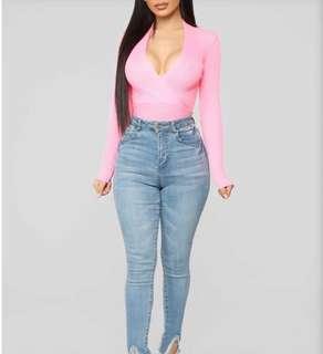 Fashion Nova Neon Pink Top