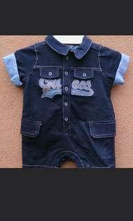 🆕 Baby Guess Soft Denim Romper