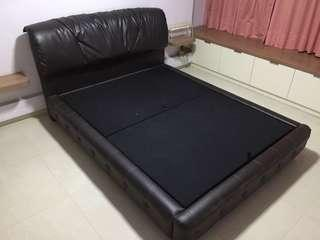 Kingcoil Queen Size Divan With Leather Head Board