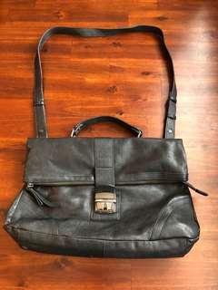 Black Danier leather satchel/ cross body