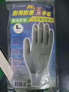 三花PU耐用耐磨工作手套(H3802型)