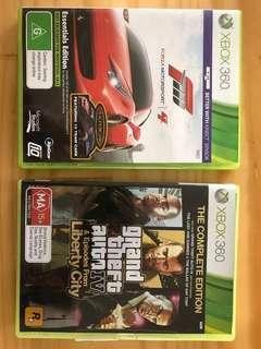 Forza and GTA 4 Xbox 360
