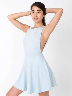 American apparel baby blue skater dress
