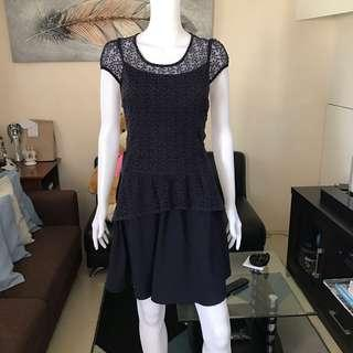 Navy blue lace dress M