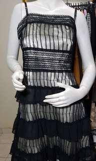 elly m double lining black dress