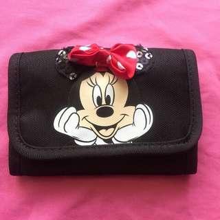 🚚 Net Kid 迪士尼 米妮 Minnie 兒童可掛式錢包 皮夾 三折夾 短夾包包 收納包 票夾 卡夾 零錢包 聖誕禮物