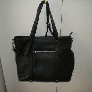 """""""FOREVER NEW"""" Medium Black Tote Bag"""