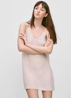 Aritzia silk slip dress