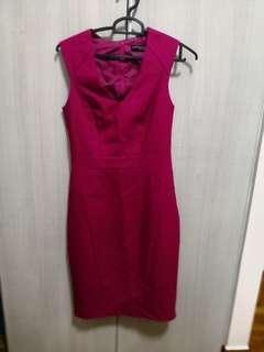 🚚 DP Fushia tailored dress
