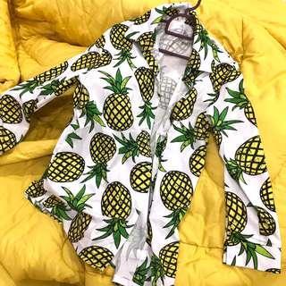 pineapple printed blouse