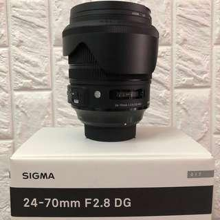 Sigma 24-70mm DG OS Art Nikon mount