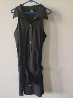 Outer Dress model rompi Hitam