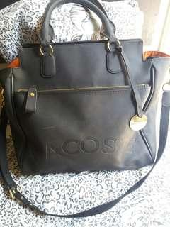 REPRICED!!!!PRE-LOVED LACOSTE 2WAY BLACK BAG