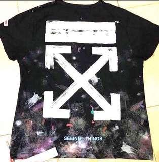 🔥Authentic OFF-WHITE GALAXY Tee
