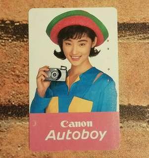 那些年:常盤貴子相机廣告電話卡