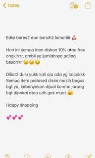 Attention🎤 disc 10% atau free ongkir