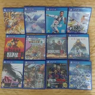 PS4 GAMES 12隻