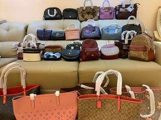 (21/03/19)Ready stock Authentic coach women handbag Tory Burch wallet purse backpack money clip men messengers laptop bag