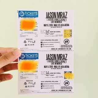 Jason Mraz Concert Tickets (Gen Ad)