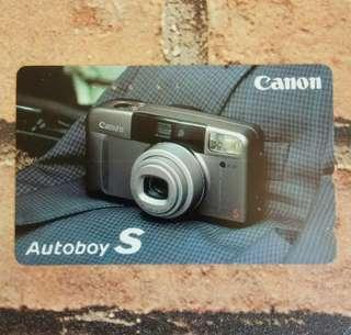 歲月收藏品:绝版日本相機廣告電話卡