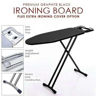 Premium Standing Ironing Board Iron Board Fire Retard Fabric