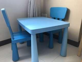 Babies table & chairs set