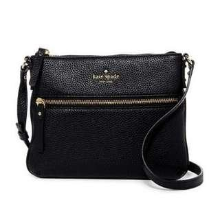 Kate Spade New York Cobbie Hill Tenley Leather Crossbody Bag in Black