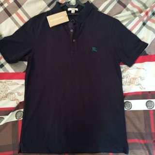 Burberry Polo Shirt Navy Blue / Biru Dongker