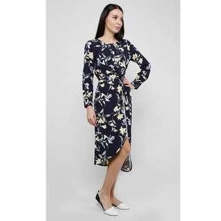 Sunny Girl Lily Of The Vales Dress In Navy