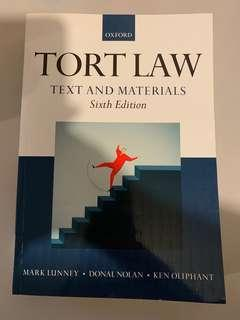 [UOL LLB適用] Oxford Tort Law Text and Materials 6th Edition