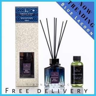 🚚 🌊🏝Aroma Reed Stick Diffuser! Blue Lagoon Reed Diffuser. Essential Oil. Aroma Reed Refill. Black Reed Sticks