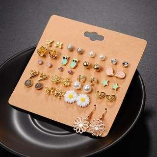 🚚 PO 20 Pairs Cute Earrings Free Postage