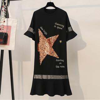 (XL - 5XL) Ladies Sequin Dress #5564