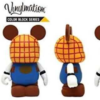 "香港迪士尼樂園 Color Block Series Disney Vinylmation 3"" inch Figure LOOK (全新品)-胡迪 Woody"