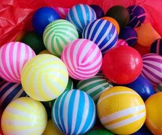 TO BLESS: Plastic Balls (Striped and Solid)