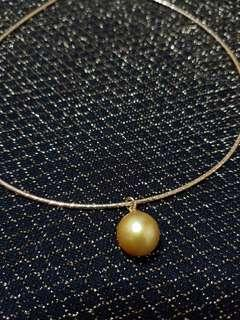 RUSH! Golden South Sea Pearl necklace