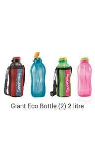 Giant Eco Bottles Tupperware 2L