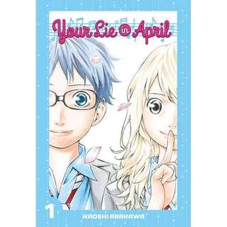 Your Lie in April Volumes 1 and 2 English Manga