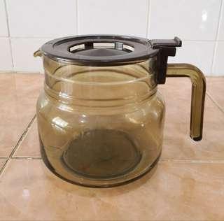arcoroc France brown teapot