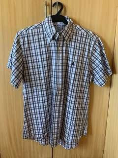 BROOKS BROTHERS Slim Fit Short Sleeve Cotton Shirt